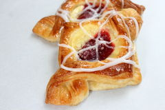 Cherry and cream pastry Royalty Free Stock Image