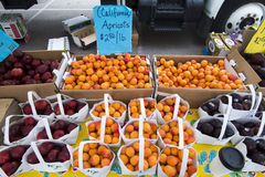 Cherry Creek Farmers Market. Some of the fresh food and produce available at the Cherry Creek Farmers Market in Denver, Colorado which is one of the larger Royalty Free Stock Photo