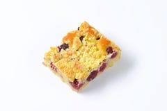 Cherry crumb cake Stock Photos
