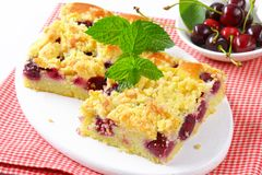 Cherry Crumbcake Squares Stock Photography