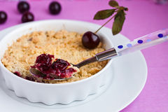 Cherry crumble Royalty Free Stock Photography