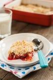 Cherry crumble with fresh cherries Royalty Free Stock Photo