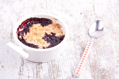 Cherry crumbles Stock Photo