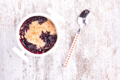 Cherry crumbles Royalty Free Stock Photo