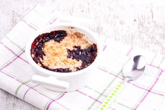 Cherry crumbles Royalty Free Stock Photography