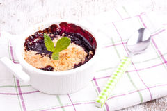 Cherry crumbles Stock Photos