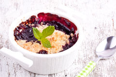 Cherry crumbles Stock Photography
