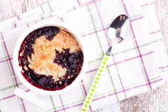 Cherry crumbles Royalty Free Stock Photos
