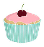 Cherry Cup Cake Imagem de Stock Royalty Free