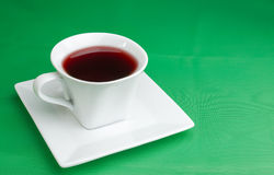 Cherry and cup of juice Stock Photography
