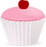 Cherry cupcake Royalty Free Stock Photography