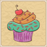 Cherry Cupcake ilustración del vector