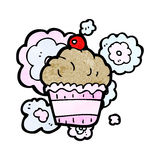 Cherry cupcake cartoon Stock Photo
