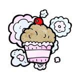 cherry cupcake cartoon Stock Photo