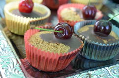 Cherry cupcake stock photo
