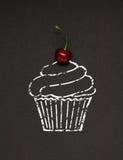 Cherry cupcake. Stock Image