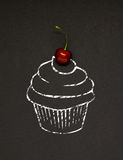 Cherry cupcake. Stock Images