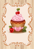 Cherry cupcake Royalty Free Stock Photos