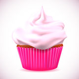 Cherry cupcake Stock Photo