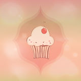 Cherry cupcake Stock Image