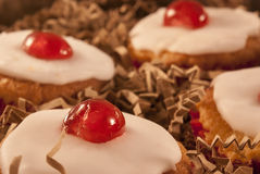 Cherry cupcakes Royalty Free Stock Image
