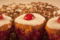 Cherry cupcakes Royalty Free Stock Images