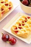 Cherry custard pastries Stock Photo