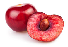 Cherry cut Royalty Free Stock Photo