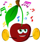 Cherry with cymbals Royalty Free Stock Photo