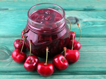 cherry dżem obrazy stock