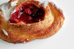Cherry Danish. Isolated Stock Image