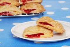 Free Cherry Danish On A Plate Stock Image - 10505721