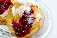 Cherry Danishes Stock Images