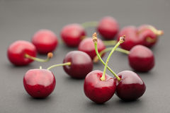 Cherry on dark royalty free stock image