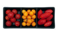 Cherry and datterini tomatoes, red and yellow Royalty Free Stock Photography