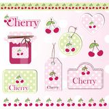 Cherry design elements Stock Image