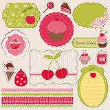Cherry Design Elements for scrapbook Royalty Free Stock Photo