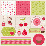 Cherry Design Elements for scrapbook Stock Photography