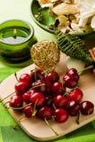 Cherry Dessert on cutting board Royalty Free Stock Photos