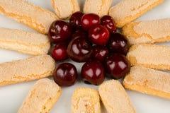 Cherry dessert detail Royalty Free Stock Photo