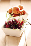 Cherry In a Detail With Other Fruit Stock Photography