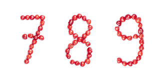 Cherry digits isolated Stock Image