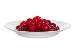 Cherry on a dish Royalty Free Stock Photo