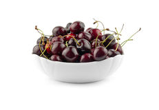 Cherry in a dish Stock Images