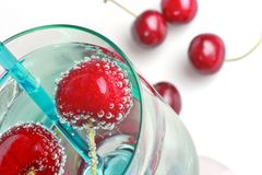 Cherry drink Stock Image