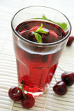 Cherry drink Stock Photos
