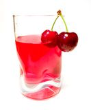 Cherry drink. Drink with cherries Royalty Free Stock Photo