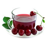 Cherry drink in a glass mug . Stock Photography