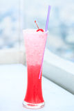 Cherry drink with soda Royalty Free Stock Images