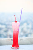 Cherry drink with soda Stock Images